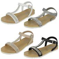 Ladies Spot On Flat Buckle 'Sandal'