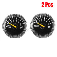 2 Pcs Micro Gauge 1'' 5000 psi High Pressure for Hpa Paintball Tank Co2