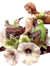 JODY BERGSMA A DREAM WITHIN A DREAM FAIRY HUMMINGBIRDS STATUE FIGURINE