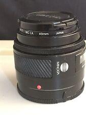 Minolta Auto Focus Lens 50 Promaster Spectrum 7 MC 1A 49mm & Covers
