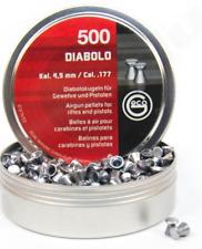 500 pallini diana superdiabolo per carabina aria compressa cal. 4.5mm piombini