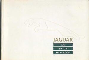 Jaguar XJ6 XJ40 2.9 3.6 Original Owners Handbook Pub. JJM 10 1985