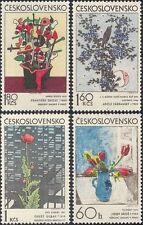 Czechoslovakia 1974 Flowers/Art/Paintings/Artists/Tulips/Modern 4v set (n44164)