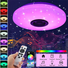 RGBW LED Ceiling Light bluetooth APP Music Speaker Lamp Bedroom+ Remote Control