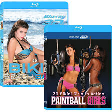 2 3D Blu-ray Movies! 3D Bikini Beach Babes Issue 5 & Paintball Girls Blu-ray Lot