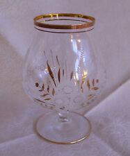 Kognak-Glas Brandwein Brandy Schwenker mit Gold-Dekor