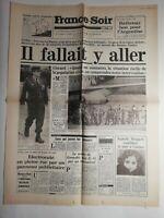 N202 La Une Du Journal France - soir 22 mai 1978 il fallait y aller, Giscard