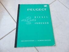 Peugeot 404 403 Diesel Indenor Argumentation Demonstration 1963 brochure