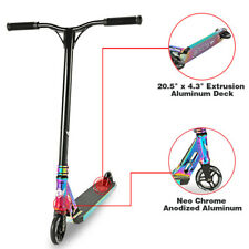 Longway Sector Neo Chrome Pro Stunt Kids Kick Scooter Anodized Aluminum BMX
