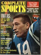 1966 Complete Sports football magazine Johnny Unitas, Baltimore Colts ~ Gd