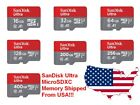 SanDisk Ultra 256GB 128GB 64GB 32GB 16GB MicroSD Micro SD Flash Memory Card Lot