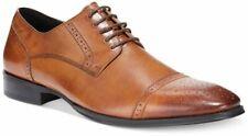 Brand New Alfani Platinum  Men's Ethan Medallion Toe Oxfords Dark Tan SIze 12