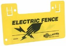 "Gallagher 5 Pack, Highly Visible Electric Fence Warning Signs, 9.5"" x 5.5"", New"