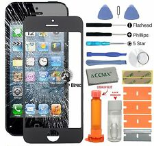 iPhone 5s 5c 5 Front Glass Screen Replacement Repair Kit Black+LOCA glue + kit