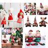 Christmas Decor Pendant Cute Santa Claus Snowman Reindeer Angel Doll Elf Doll ER