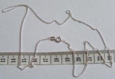 925 Sterling Silver Open Curb Chain 16 Inch Choker 1.25mm Link  Velvet Gift Bag
