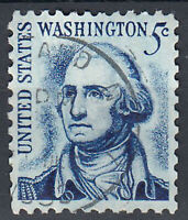 USA Briefmarke gestempelt 5c George Washington Rundstempel. / 710