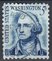 USA Briefmarke gestempelt 5c George Washington Rundstempel. / 710