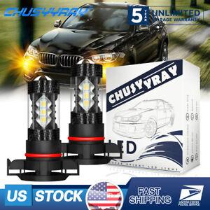 For Dodge Challenger 2011-2014 2X H16 LED Fog Light 3000K Bulb Golden Yellow USA