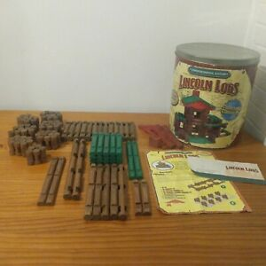 Lincoln Logs Commemorative Edition 115 Piece Collectible Tin - Year 2000 *READ*