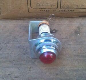 1 x VINTAGE BULGIN RED PANEL PILOT LIGHT - Amplifier Guitar Lamp