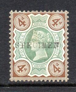 GB QV SG205s 4d Green & Purple Brown Jubilee Specimen Fine Mint Hinged Cat £60