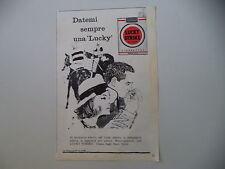 advertising Pubblicità 1960 SIGARETTE CIGARETTES LUCKY STRIKE
