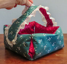 Handmade Stuffed Fabric Holiday/Christmas Basket