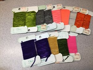 Large Fly Tying Lot Of ORVIS Brand Chenille Lot Of 14 Pcs.  Lot #3