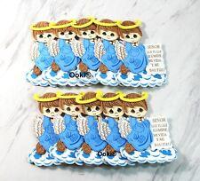 Cute 3D Blue Boy Angel Cloud Mi Bautizo Baby Shower Party Decorations