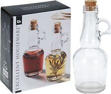 250ml Glass Oil and Vinegar Set Dressing Pourer Condiment Bottles with Handles