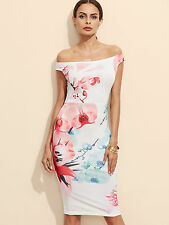 New Flower Printed Bodycon Midi Dress Size Extra Small MSRP $42.00