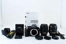 Nikon D5100 Digital Camera w/ 18-55 VR & 55-200 NonVR Lenses [N.Mint] #672436