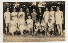 1924 RPPC Team GREECE Olympic Postcard Paris AN RARE 0 Sports Medals