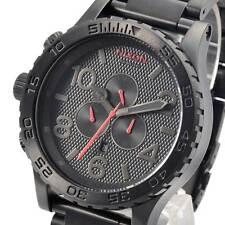 New NIXON Mens Watch 51-30 CHRONO All Black steel A0832298 A083-2298