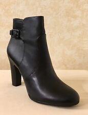 Women Sam Edelman Sylvie Ankle Leather Black Heel Boot