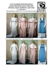 Ladies Wrapping Front Gown Train Redingote Laughing Moon Costume Pattern 130