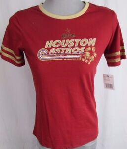 Houston Astros MLB G-III Red Women's Red Vintage Tee
