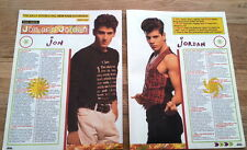 New Kids On The Block J & J 3 page magazine PHOTO/Poster/clipping 11x8 inches