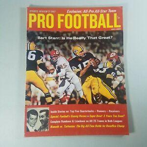 1967 Bart Starr Super Bowl #1 Magazine Pro Football Sports Reviews VTG