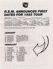 R.E.M. Fanclub Newsletter 1995 January