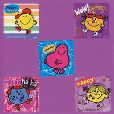 15 Mr. Men Little Miss Happy Large Stickers - Party Favors - Rewards