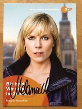 Melanie Marschke AK ZDF Soko Leipzig Autogrammkarte original signiert