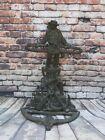 Antique 19th C Umbrella Stand Jack Tar Nautical Theme Cast Iron Sailor Figure