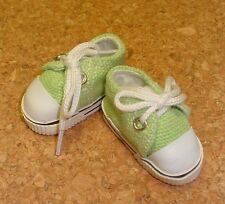 Doll Shoes, 47mm LIGHT GREEN Sneakers - Bitty Bethany, Ann Estelle