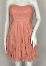Teeze Me Pink Tiered Ruffle Tulle Mini Dress Party Prom Size 3