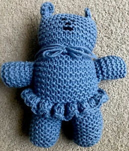Teddy Bear Stuffed Animal / Crochet Teddy Bear / Handmade Toy / Cute Blue Teddy