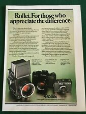 ROLLEI CAMERA SLX POSTER ADVERT READY FRAME A4 SIZE G