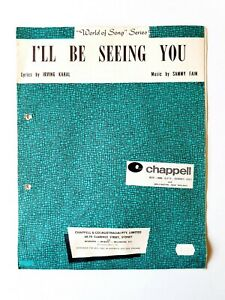 """""""World of Song"""" Series - I'll be seeing you - Sheet Music"""