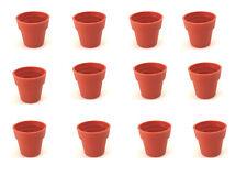 5 MINI vasetti IN TERRACOTTA VASI per piantine MINIATURE decorazioni 1,5 CM doll